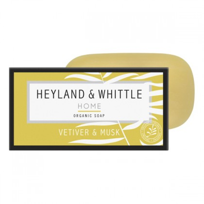HEYLAND & WHITTLE - Vetiver & Musk - Organic Soap - Seifenstück