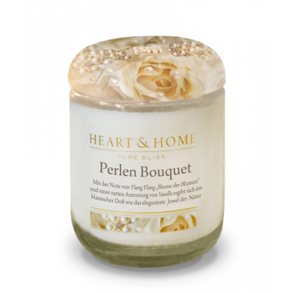 HEART & HOME - Perlen Bouquet - Duftkerze